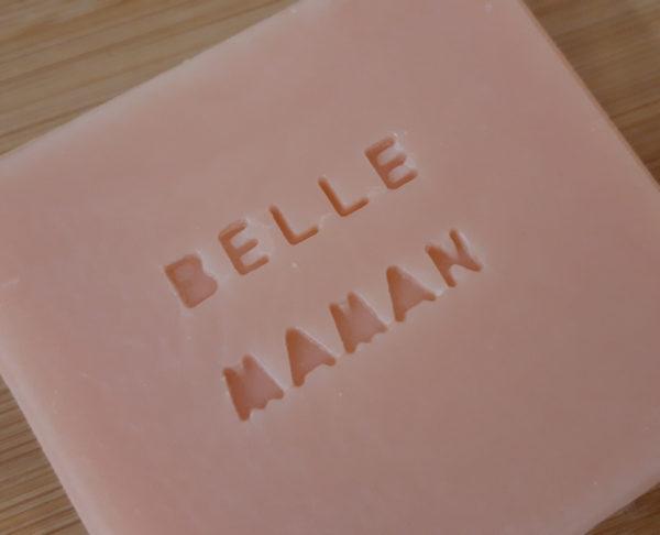 Savon personnalisé rose Belle Maman