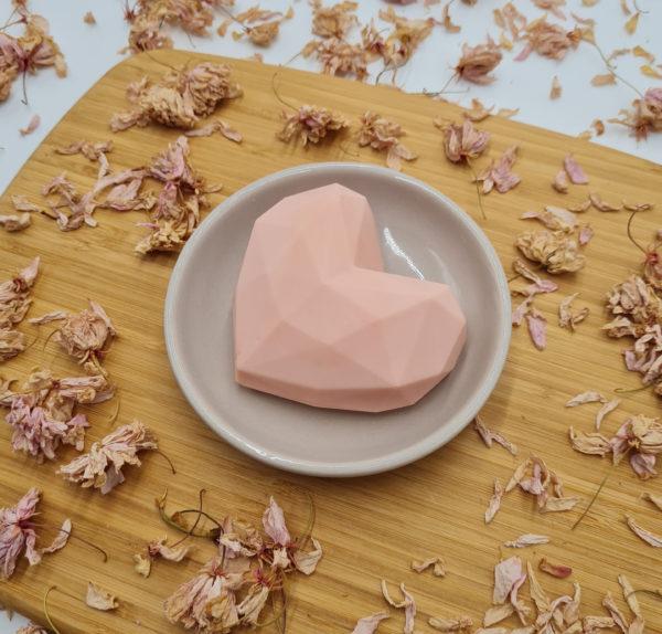 Savon Cœur Origami rose