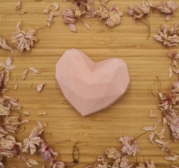 Savon Cœur rose poudré