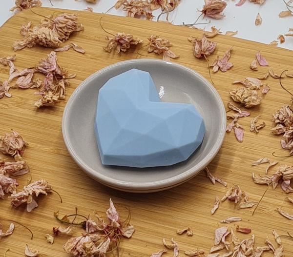 Savon Cœur Origami bleu ciel